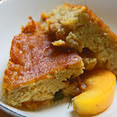 Peach and Fresh Fig Pudding