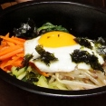 Bibimbap - Rice with Mixed Vegetables, Beef, and Egg