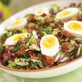 Bitter Greens Salad with Bacon & Eggs