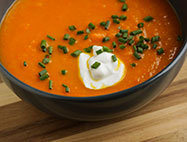 Roasted Curry  Carrot Soup